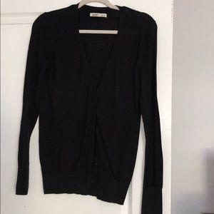 Basic black cardigan